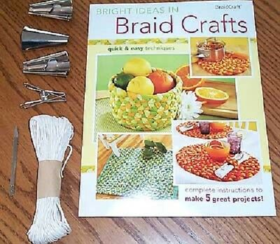 Braidcraft rug braiding Starter Kit: cones clamp lacing needle Braid Craft