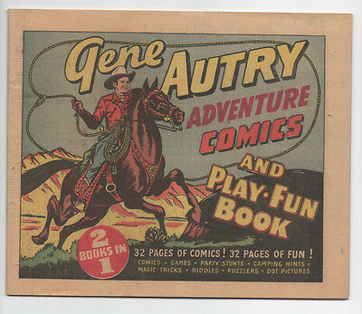 Gene Autry Adventure Comics And Play Fun Book  1947  Complete And Clean