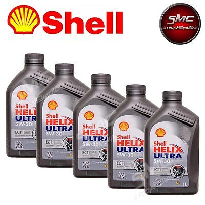 Olio Motore Shell Helix Ultra Ect 5W30 5 Litri