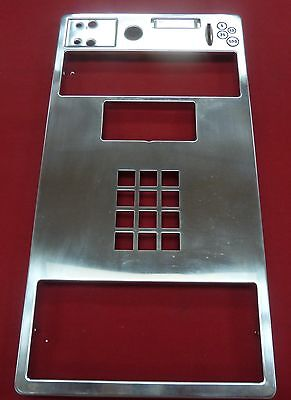 New Stainless Faceplate for GTE Quadrum Palco Payphone Pay Phone Protel Elcotel