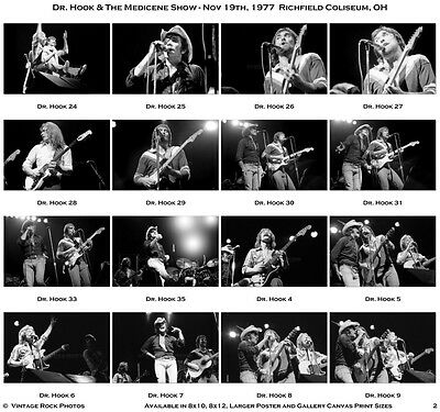 Dr. Hook & the Medicene Show Photos 4x6 inch Set of 35 Prints '77 Richfield OH