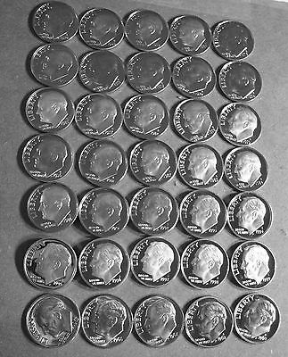 1965-Sms  <>  2010-S  (47) Forty-Seven Years Of Proof Deep Cameo Roosevelt Dimes