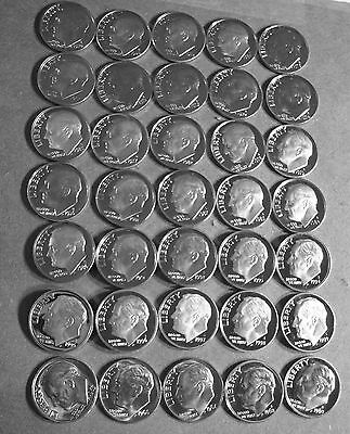 """# 47 New Dimes 1965 To 2010-S  """"Forty-Seven Years"""" Proof Deep Cam Roosevelt Dime"""