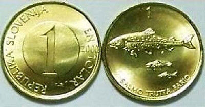 Slovenia 2001 1 Tolar Uncirculated (KM4)
