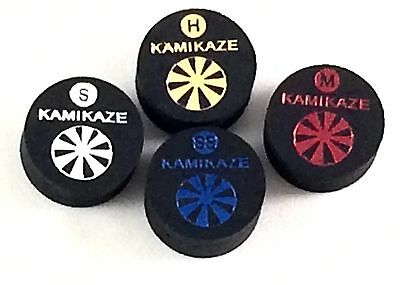 Kamikaze Black Layered Cue Tips  14 MM (Mix & Match) (6 Tips)  Fast Shipping....