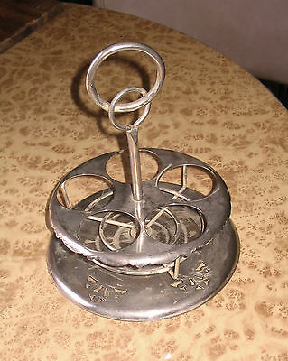 Vintage Rotating Spice Rack Stand - Retro Pierced Metal Holder