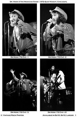 Dr. Hook & the Medicene Show Photos Set of 37 Pro 4x6 inch Prints '72 Chicago IL