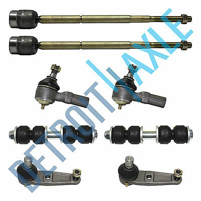 8PC Kit - Pair of 2 NEW Front Sway Bars + 2 Lower Ball Joints + 4 Tie Rods