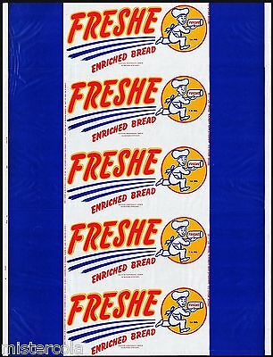 Vintage bread wrapper FRESHE ENRICHED BREAD Amarillo and Lubbock Texas unused