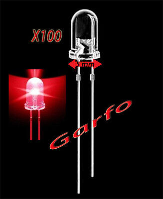 100X Diodo LED 5x9 mm Rojo 2 Pin alta luminosidad