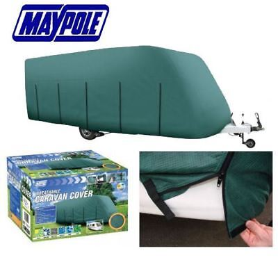 New Premium Maypole 4-Ply Full Caravan Cover Green Fits 6.8M-7.4M (23-25')