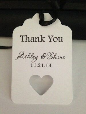 Wedding Tags Personalized Thank You Favor Gift Hang Tags Buy 2 Get 1 Free