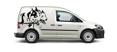 Siberian Husky Team Decal Sled Dogs Huskies Dog Sibe Car Van Decal Sticker