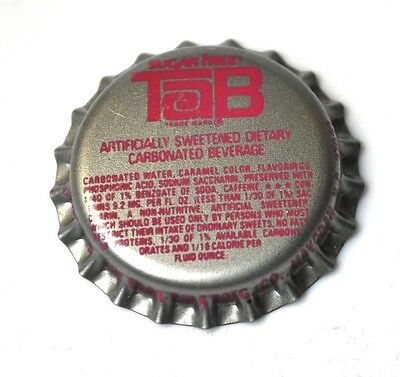Coca-Cola TaB Kronkorken USA Bottle caps Sugar Free TaB