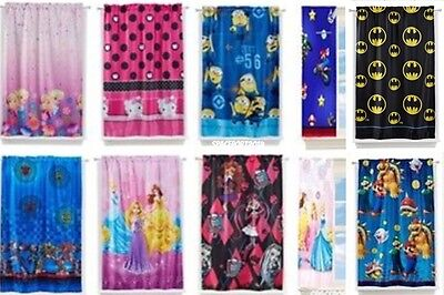 Kids ROOM DARKENING CURTAIN PANEL Lights Black-Out TV Characters Movies Bedding
