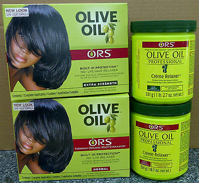 Organic Root Stimulator Olive Oil No-Lye Relaxer Or Professional Crème Relaxer