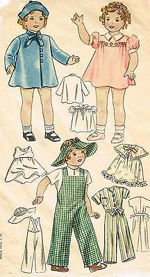 """2240 Vintage Chubby Doll Pattern Sizes 16""""--Year 1939"""