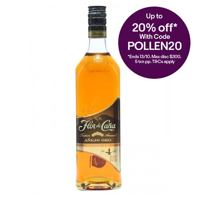 Flor de Cana 4 Year Old Gold Rum 700ml