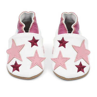Dotty Fish Soft Leather Baby & Toddler Shoes - Pink Stars - 0-6 Month - 3-4 Year