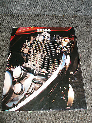 Yamaha 1978 Sr 500 Sr500 Original Dealer Sales Brochure Literature Book Poster