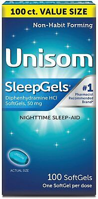 Unisom Sleep Gels Softgels Sleep Aid 60ct -Expiration Date 03-2018-