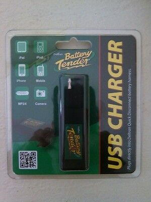 DELTRAN BATTERY TENDER QUICK DISCONNECT PLUG WITH USB CHARGER MOTORCYCLE Free SH