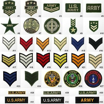 #1423R Military Army Soldier Rank Insignia Embroidered Sew Iron on Patch Badge