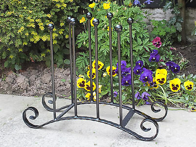 Wrought Iron Wellington Boot Rack 4 Pairs Wellie Stand Welly Holder - Storage