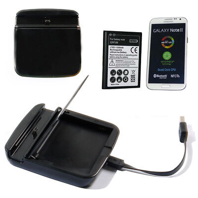2 in 1 Cradle Dock Charger and with Battery For Samsung Galaxy Note 2 N7100