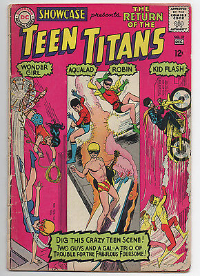 Dc  Showcase  #59  The Return Of The Teen Titans  1965  3Rd  App.  Lower Grade