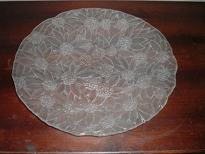 Large Mikasa Studio Nova Crystal Frosted Poinsettia Serving Plate