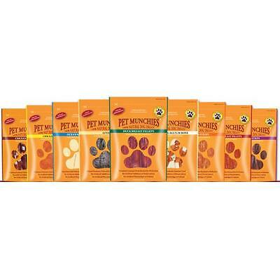 Pet Munchies 100% Natural Gourmet Quality Meat Fish Rawhide Healthy Dog Treats