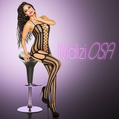 CATSUIT Bodystocking Aperta Effetto Reggicalze Ouvert SEXY Hot Lingerie Tutina