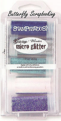 Frantage MICRO GLITTER Winter Collection Kit 5 Glitters Stampendous MGK03 NEW