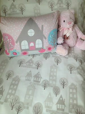 3 pce Designers Choice Baby Girls  Priya Cot Quilt, Cover & Pillow Case Set