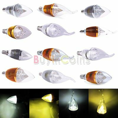 E12 E14 Flame 3 4 5 W Dimmable High Power LED Chandelier Candle Light Bulb Lamp