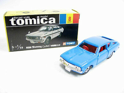 VINTAGE TOMICA 8 NISSAN SUNNY EXCELLENT 1400 GX MADE IN JAPAN