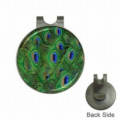 Peacock Feather Golf Ball  Marker Clubs Events Magnetic Hat Clip