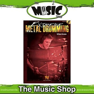 New Extreme Metal Drumming Music Tuition Book & CD