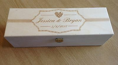 Personalised Engraved Wooden Wine Case Box Marriage Wedding Giftpresent Etc