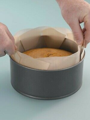 2 Reusable Non Stick LIFT OUT CAKE TIN LINER 7/8/9 inch