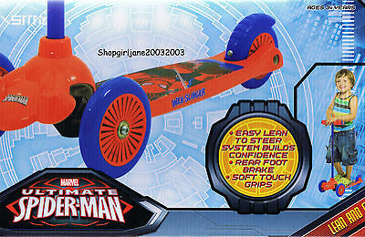 Spiderman - Lean & Glide Scooter - 3 wheels - Brand new in box