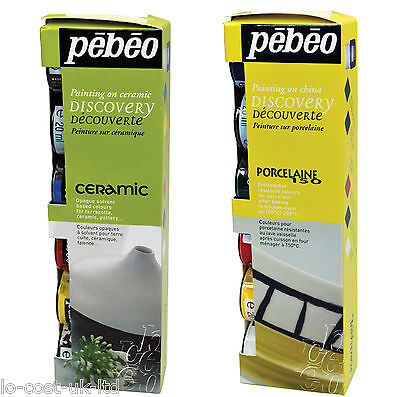 Pebeo Porcelaine 150 & Ceramic Paint Discovery Sets Painting On China Terracotta