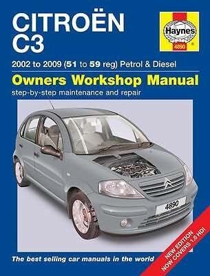 Haynes Citroën C3 Petrol & Diesel (2002 - 2009) 51 to 59 Owners Manual 4890