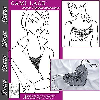 Braza Cami Lace Low Neckline Cleavage Cover Up Instant Camisole Style 5001
