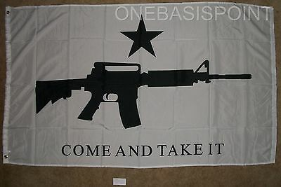 3x5 Come And Take It Ar-15 Rifle Flag Battle Of Gonzales 2nd Amendment Carbine