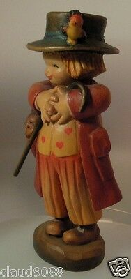 "Anri Ferrandiz Wood Figurine - Made In Italy   ""the Happy Wanderer"" Mint No Box"