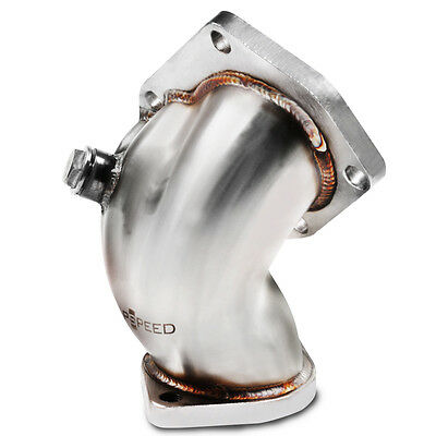 Japspeed Stainless Steel Exhaust Turbo Elbow For Mitsubishi Evo 4 5 6 Iv V Vi