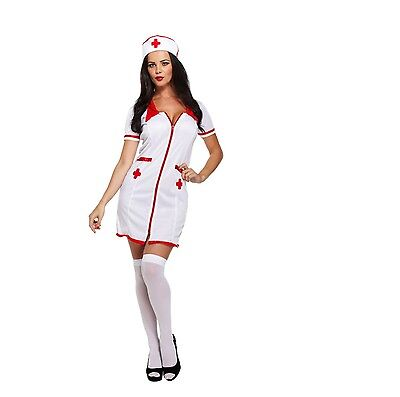 NEW Adult Sexy Scrub Nurse Uniform Ladies Fancy Dress Costume Hen Party Outfit!