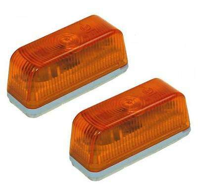 Amber Trailer Transporter Indicator Front Position Rectangle Marker Lights